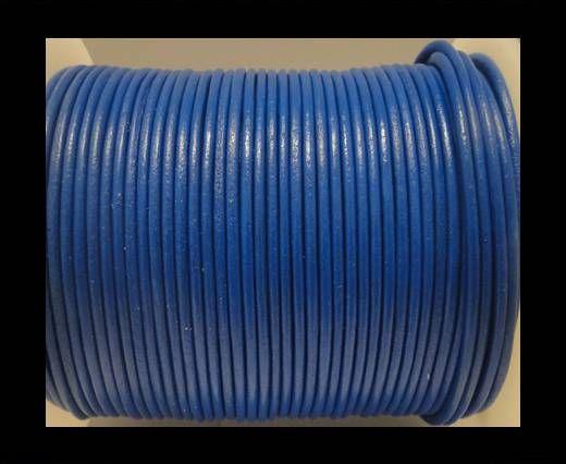 Cordon Cuir Rond SE/R/Bleu - 2mm