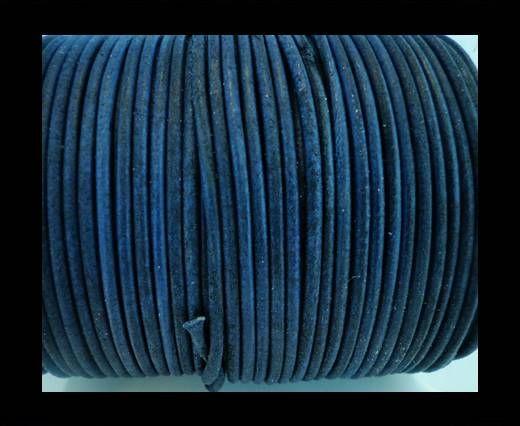 Cordon Cuir Rond SE/R/Vintage Bleu - 1,5mm