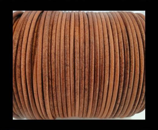 Round Leather Cord SE/R/Vintage Cognac-2mm