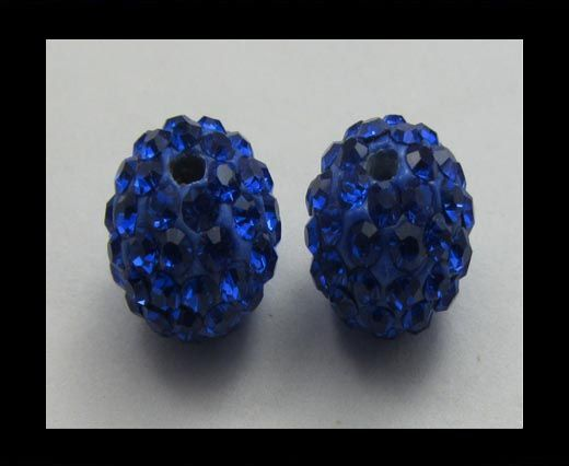 Perle Shamballa - 10mm - Saphir