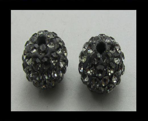 Perle Shamballa - 12mm - Smokey quartz