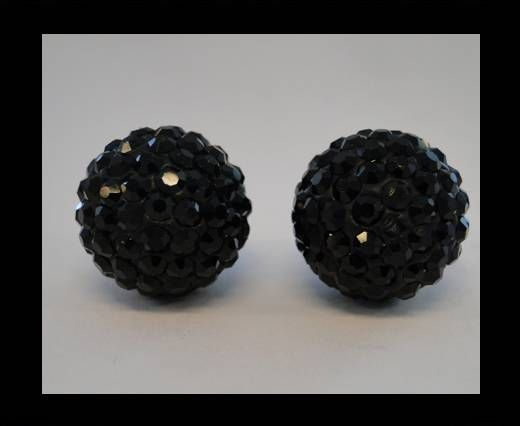 Perle Shamballa - 14mm - Quartz noir