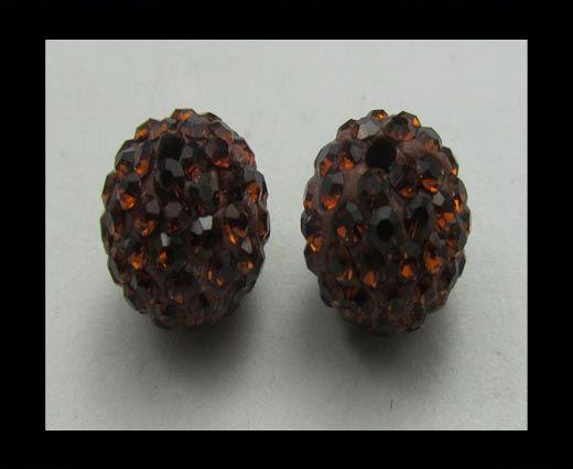 Perle Shamballa - 6mm - Moka