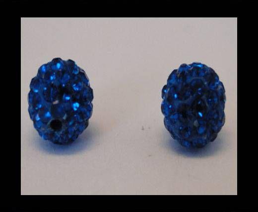 Perle Shamballa - 8mm - Bleu capri