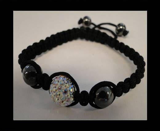 Bracelet Shamballa SB - Cristal AB - Style 4