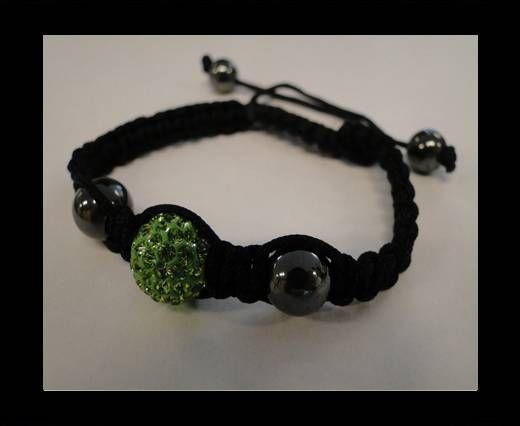Bracelet Shamballa SB - Péridot - Style 4