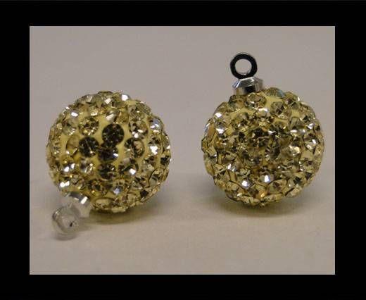 Perle Shamballa avec boucle - 10mm - Jongnil