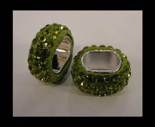 Shamballa ovale - Olive
