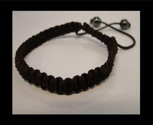 Bracelet simple Shamballa SB - Marron