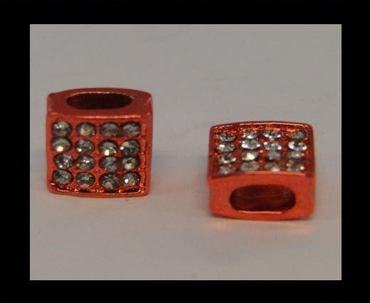 Perle Shamballa Slider - 4344 - Rouge brillant