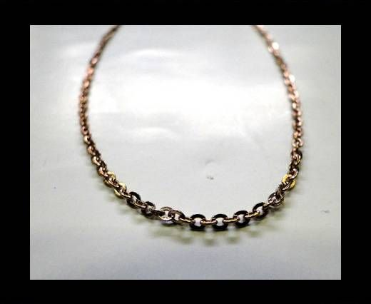 Steel Chain Item 28 Rose Gold - ready chain