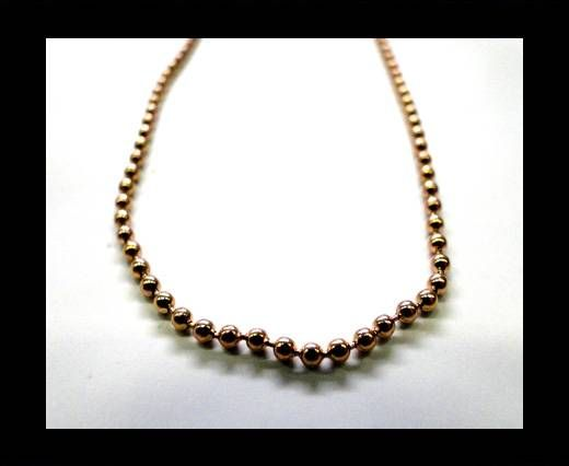 Steel Chain Item 32 Rose Gold - 2mm