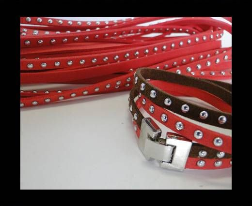 Suede cords 5mm - Watermelon Red