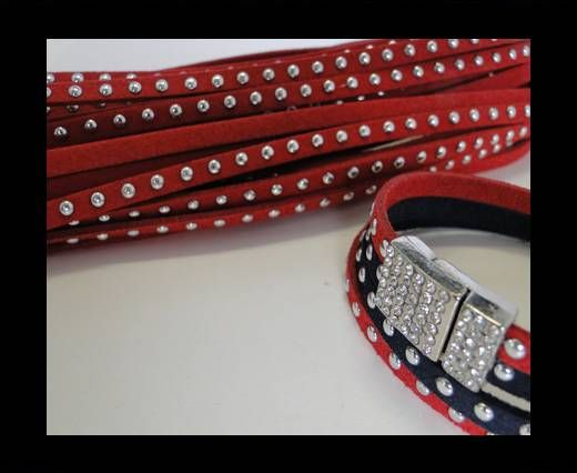 Suede cords 5mm - Red