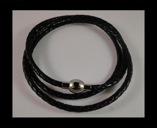 Three wrap leather bracelets SE-R-02-3MM