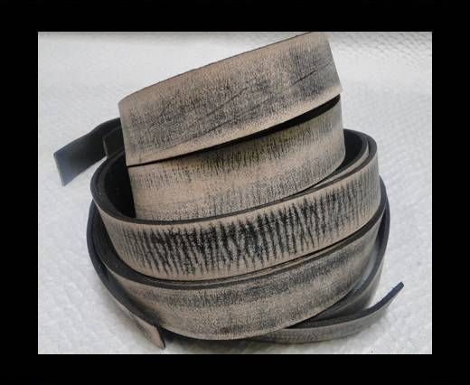 Vintage Style Flat Leather - 10mm-Tiger Vintage Black