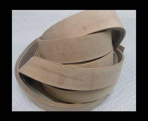 Vintage Style Flat Leather - 30mm-Vintage Cofee Brown