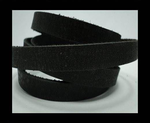 Vintage Style Flat Leather - 10mm-Black