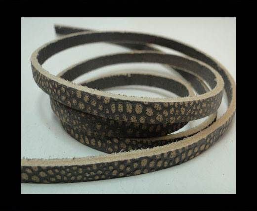 Vintage Style Flat Leather - 5mm-Taupe