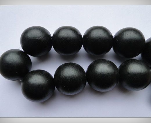 Wooden Beads-25mm-Black