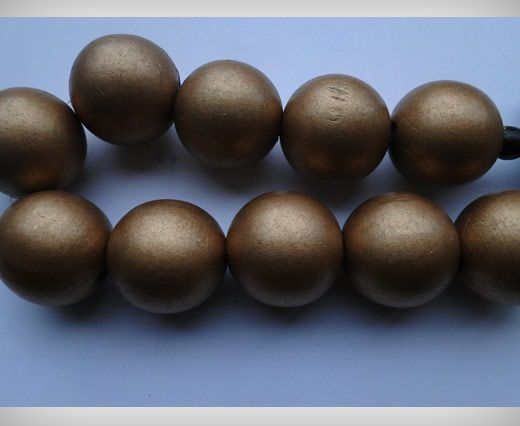 Wooden Beads-25mm-Bronze