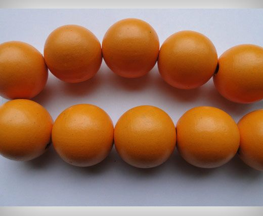 Wooden Beads-25mm-Orange