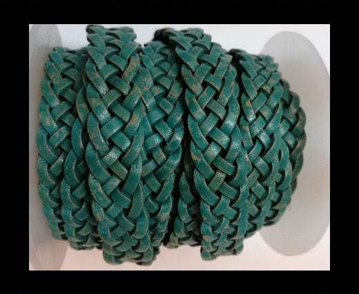 10mm Flat Braided- SE PB 08 - 5 ply braided Leather Cords