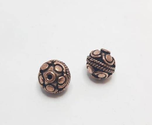 Antique Copper beads - 32022