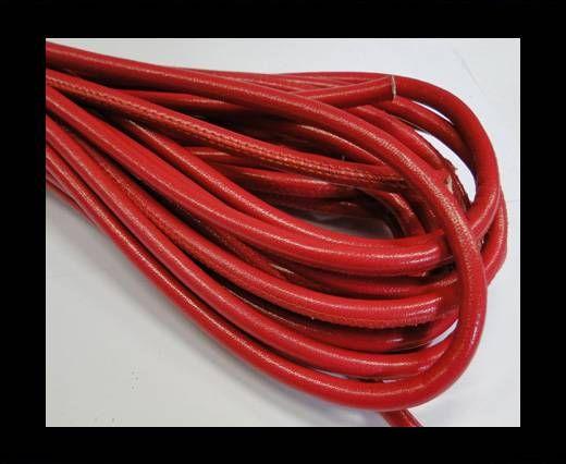 Nappaleder, rund gesäumt - 6mm - Rot