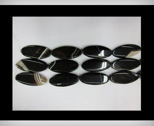 Black Line Oblong Flat Agate NS-067