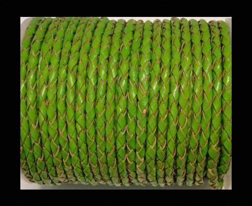 Rundes Leder, geflochten SE/B/2009-Green Grass - 5mm