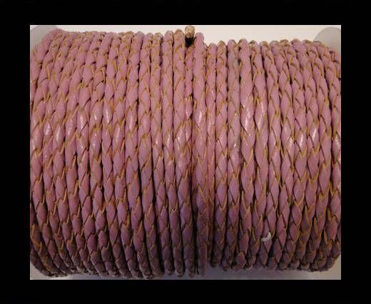 Rundes Leder, geflochten SE/B/2014-Pink - 5mm