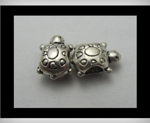 Zamac Silver Plated Beads CA-3252