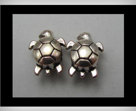 Zamac Silver Plated Beads CA-3256
