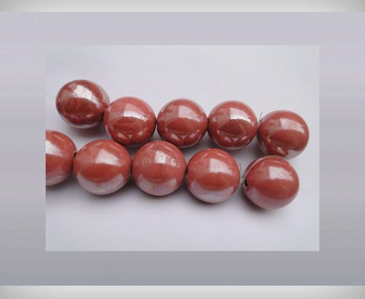 Ceramic Beads-16mm-Light-Pink