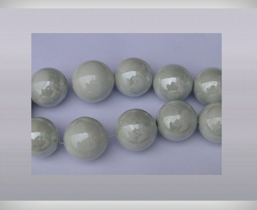 Ceramic Beads-16mm-White