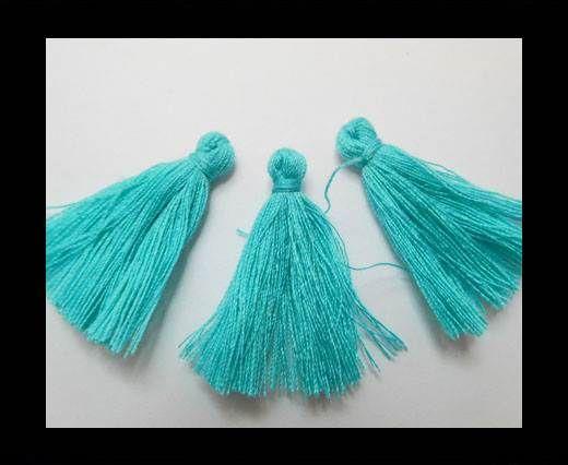 Cotton Tussels 3 cms - Bermuda Blue