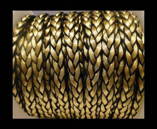 Öko-Nappa flach geflochten-Style 1-8mm-Gold