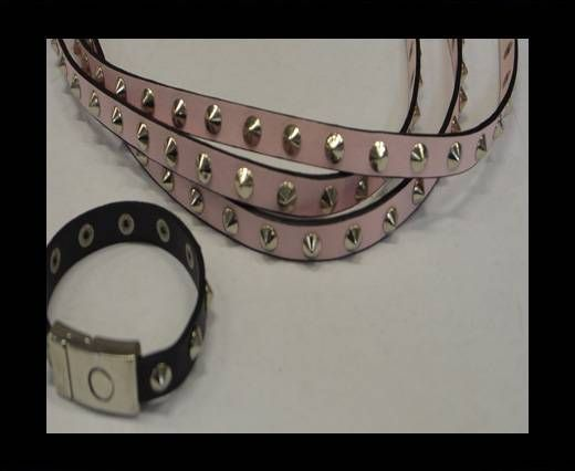 Eco Leather with Metal 10mm-Pink