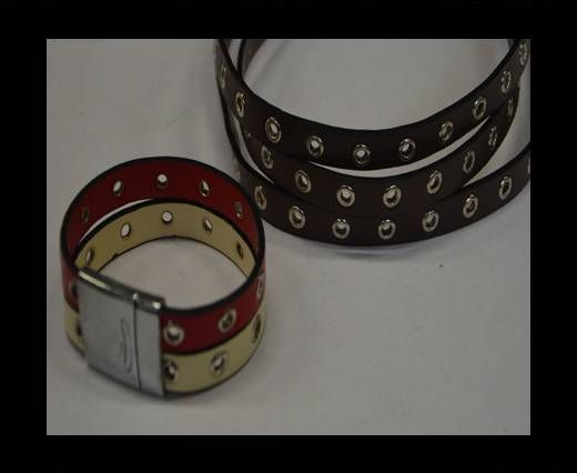 Eco Leather with Rings 10mmDark brown