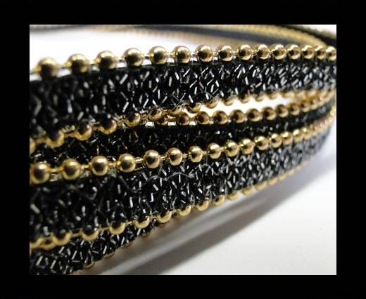 Eco leather with chains-10mm-dark brown