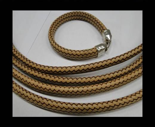 Real Regaliz-Leather-Snake Style 1-10mm*6mm-Brown