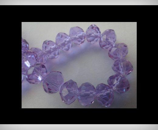 Faceted Glass Beads-18mm-Aqua-Marine