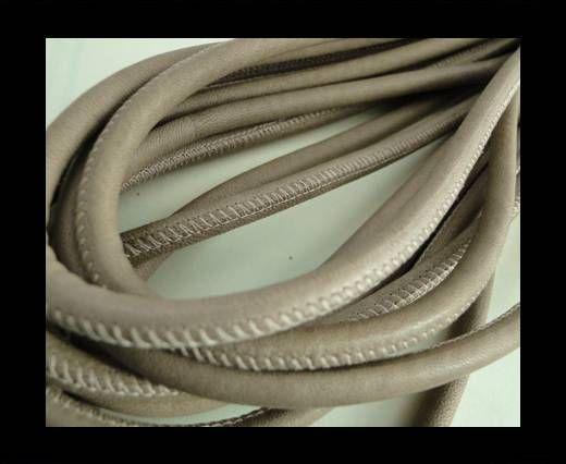 Nappaleder, rund gesäumt - 6mm - Dunkel Beige