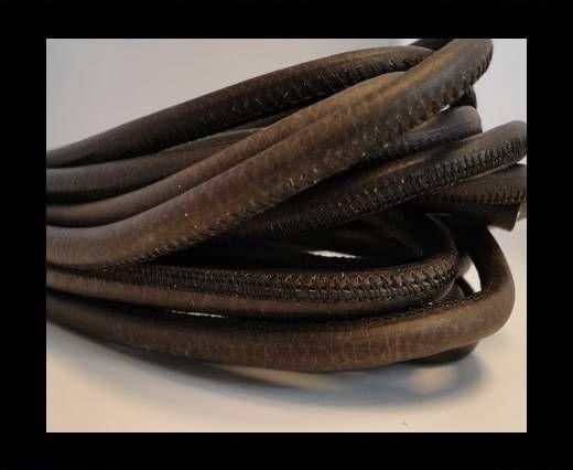 Nappaleder, rund gesäumt - 6mm - Vitage Braun