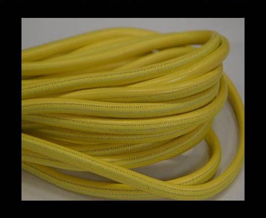 Nappaleder, rund gesäumt - 6mm - Gelb