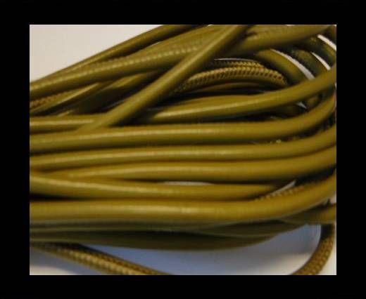 Nappaleder, rund gesäumt - 4mm - Pistaziengrün