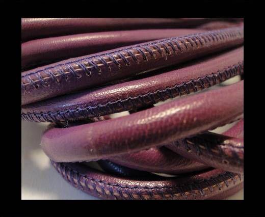 Nappaleder, rund gesäumt - 6mm - Violett