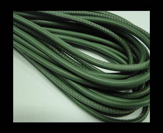 Nappaleder, rund gesäumt - 4mm - Blatt-Grün