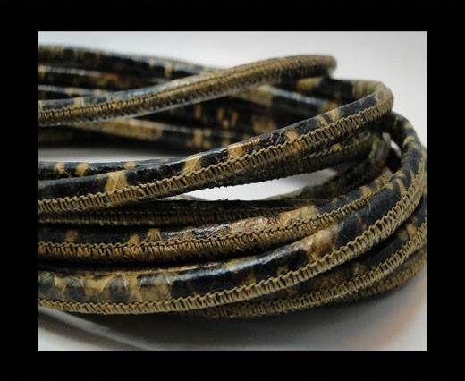 Fine Nappa-Snake style-4mm-stich python senape